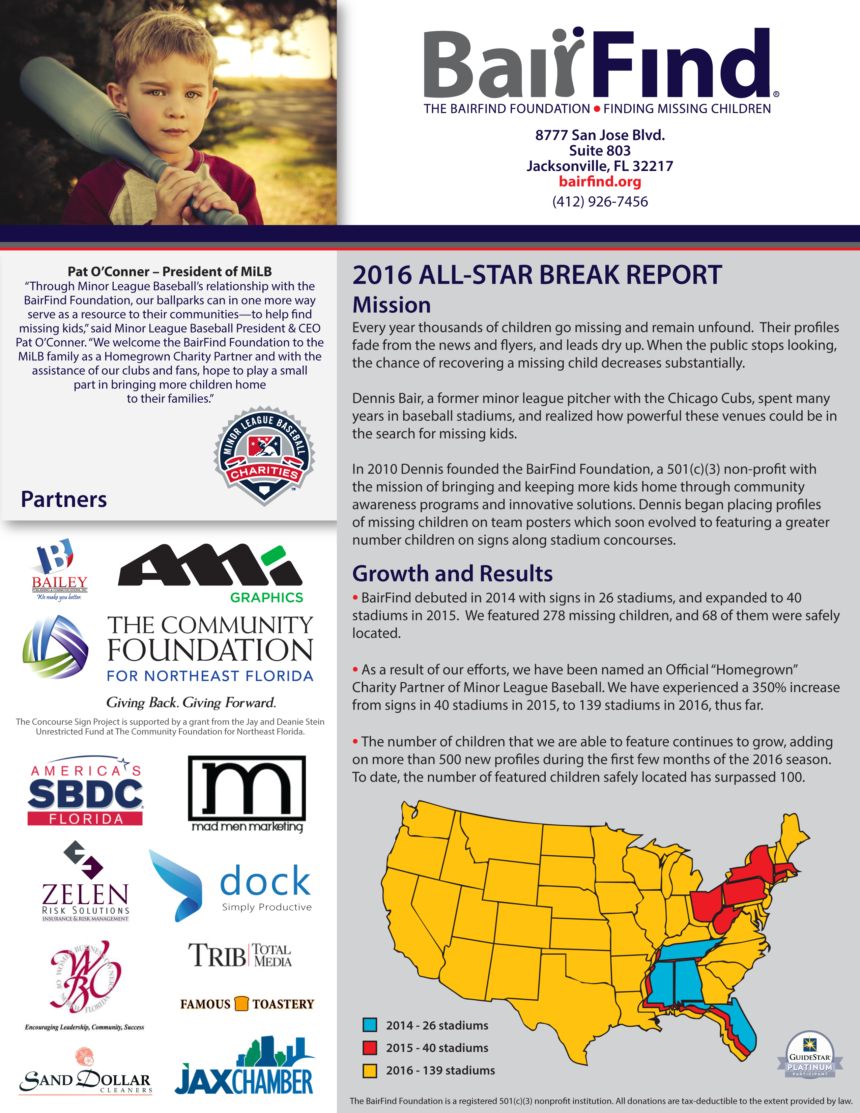 The BairFind Foundation presents the All-Star Break Report
