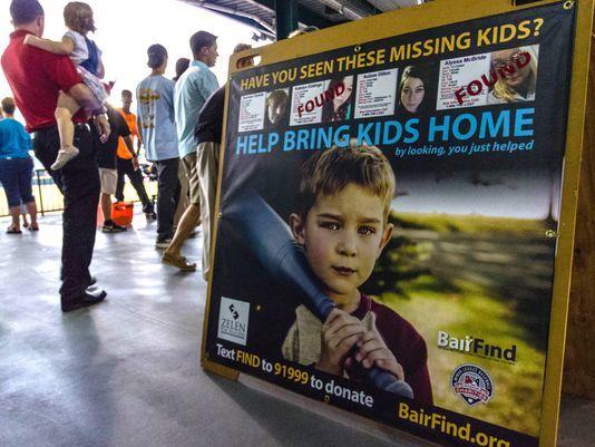 Minor league ballpark signs raise awareness on missing kids