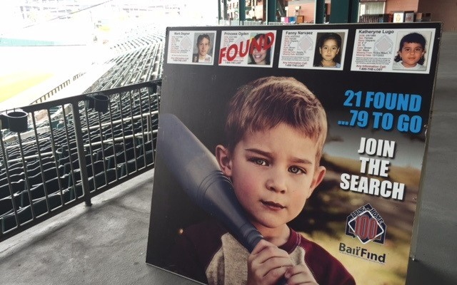 Local nonprofit uses baseball stadiums to help find missing kids