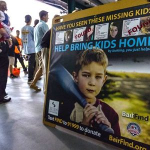 Minor league ballpark signs raise awareness on missing kids