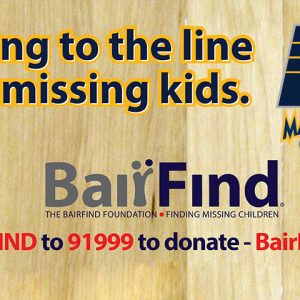 Pacers Launch Effort to Assist in Finding Missing Children