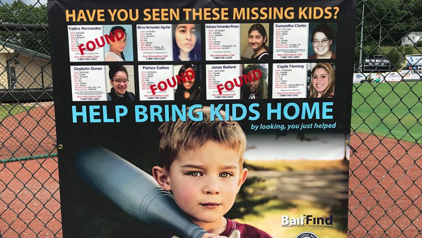 Six missing children found from Appy League BairFind signs